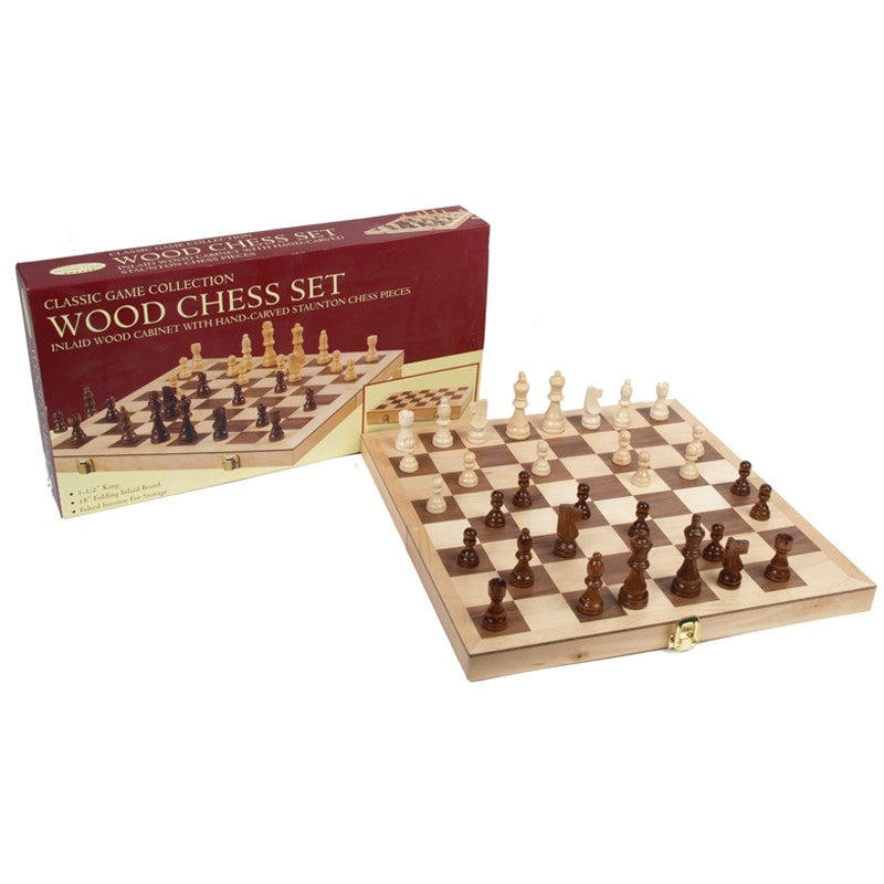 "15"" Wooden Chess Set 