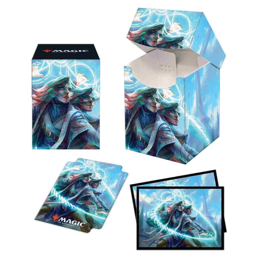 ULTRA PRO: MAGIC THE GATHERING PRO 100+ DECK BOX AND 100CT SLEEVES: STRIXHAVEN COMMANDER COMBO V5 (QUANDRIX) | All About Games
