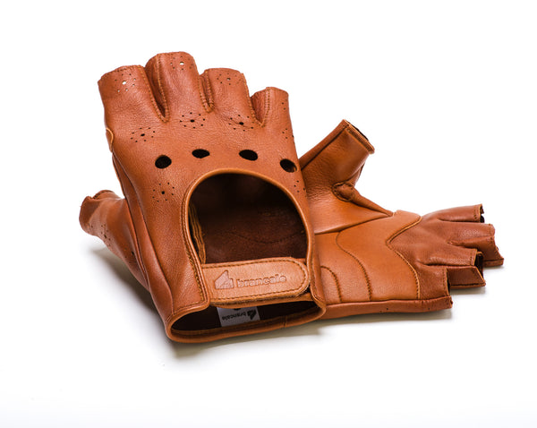 Leather Cycling Gloves Brancale
