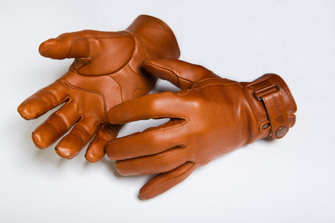 Winter Leather Cycling Gloves