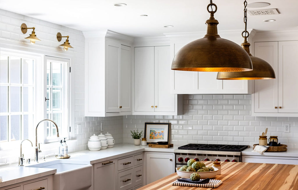 Brass Dome Pendant Light Kitchen