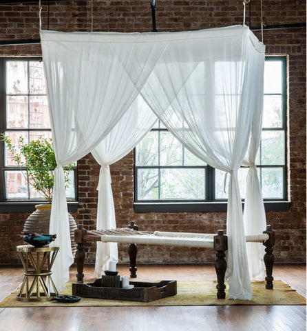 french polynesian style bed canopy
