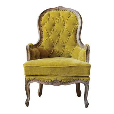 chartreuse french chair