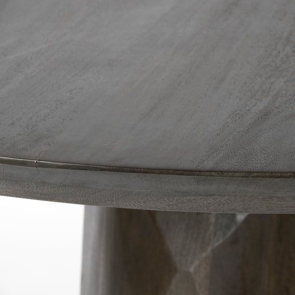Dark Wood Carved Modern Dining Table
