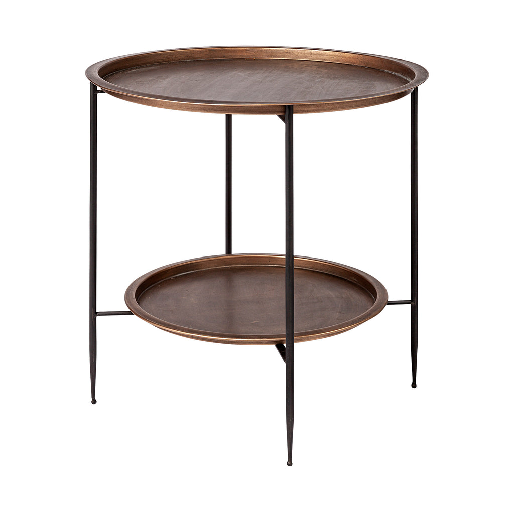 Industrial Copper Side Table