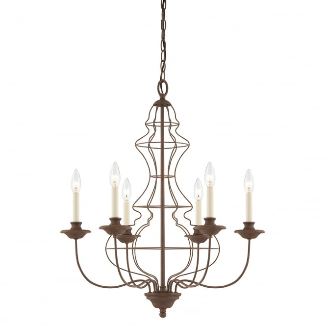 Industrial Six Light Chandelier - CENTURIA