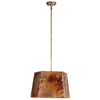 Aged Copper Geometric Style Pendant Light - CENTURIA