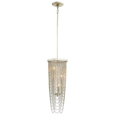 Aged Silver Leaf Draping Chain Pendant Light - CENTURIA