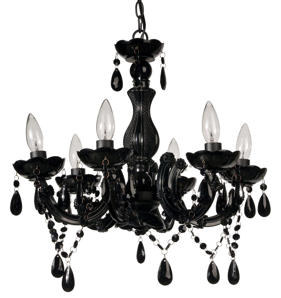 Black Draping Crystal Chandelier - CENTURIA