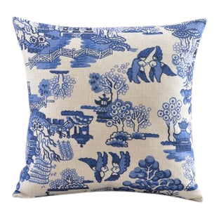 Blue Willow Pillow Cover II - CENTURIA