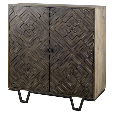 Dark Wood Modernist Cabinet - CENTURIA