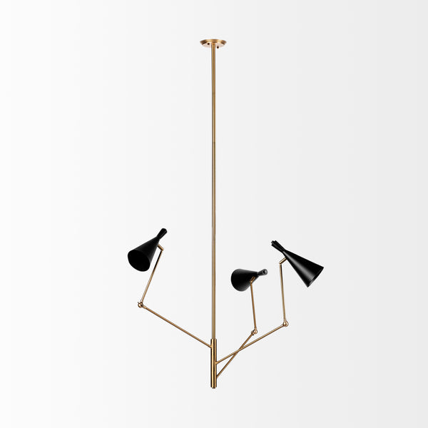 Large Modern Elbow Sconce Chandelier - CENTURIA