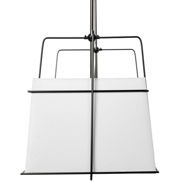 Large White and Black Rectangular Chandelier - CENTURIA