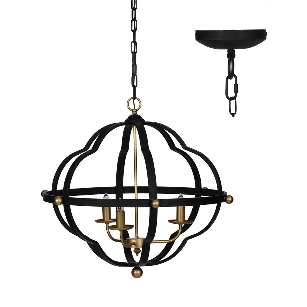 Matte Black and Gold Modern Chandelier - CENTURIA