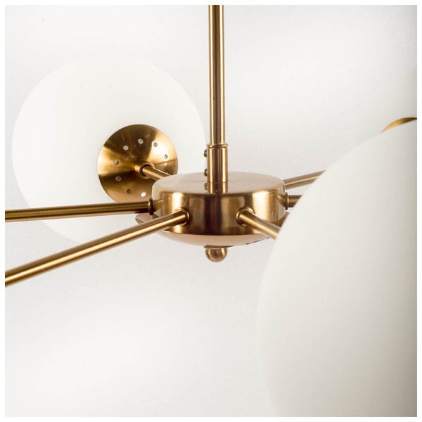 Minimalist Six Light Sputnik Chandelier - CENTURIA