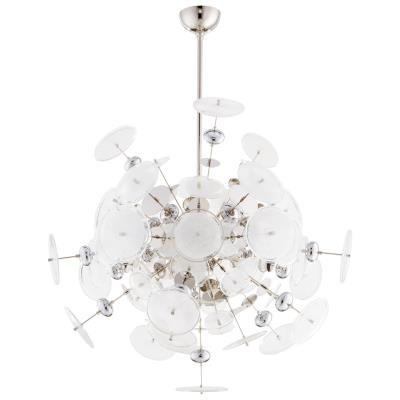 Modernist Round Disc Glass Art Chandelier - CENTURIA