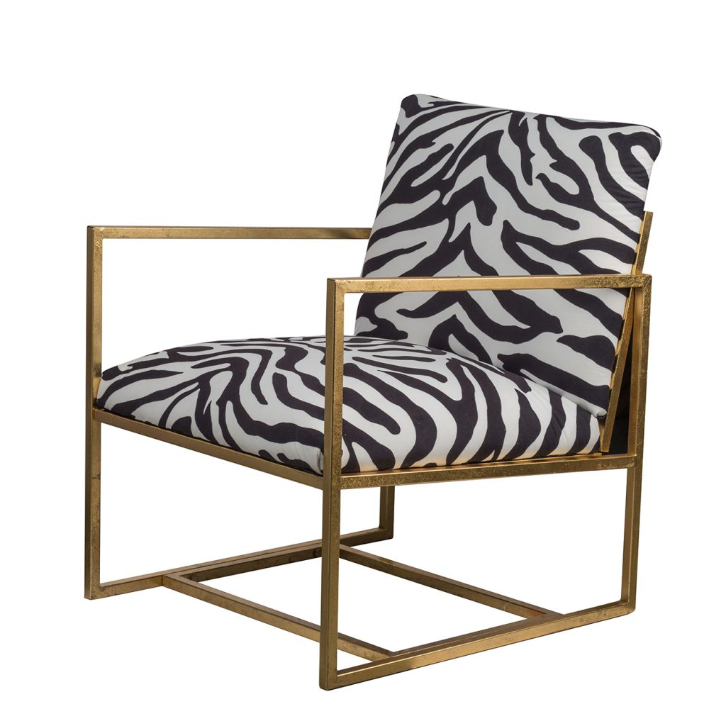 Safari Black White and Gold Chair - CENTURIA