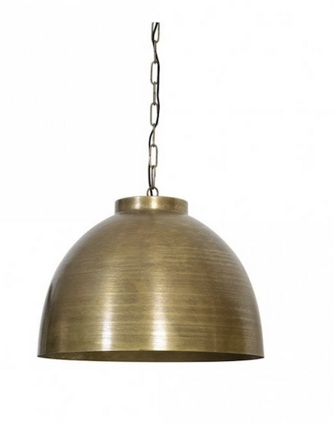 Large Industrial Bronze Dome Pendant