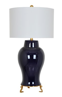Ginger Lamp in Navy in Gold - CENTURIA