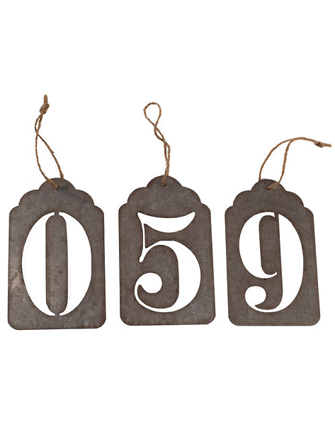 Iron Number Ornaments-Set/10 - CENTURIA