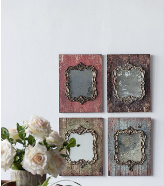 Set of 4 Vintage Style Mirrors - CENTURIA