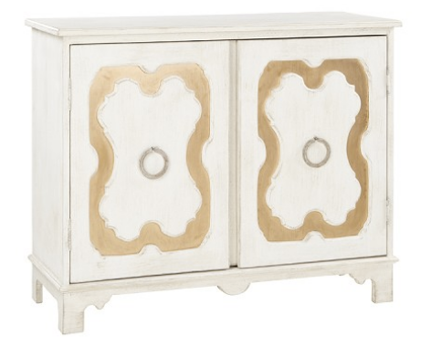 Jamie Side Table in White and Gold - CENTURIA