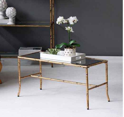 Faux Bamboo Gold Coffee Table - CENTURIA