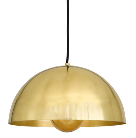 Custom Vintage Style Brass Dome Light Medium - CENTURIA
