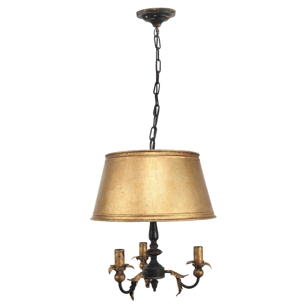 Vintage Style Black and Gold Pendant Chandelier - CENTURIA