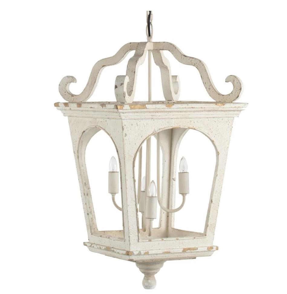 White Washed Vintage Street Light Pendant - CENTURIA