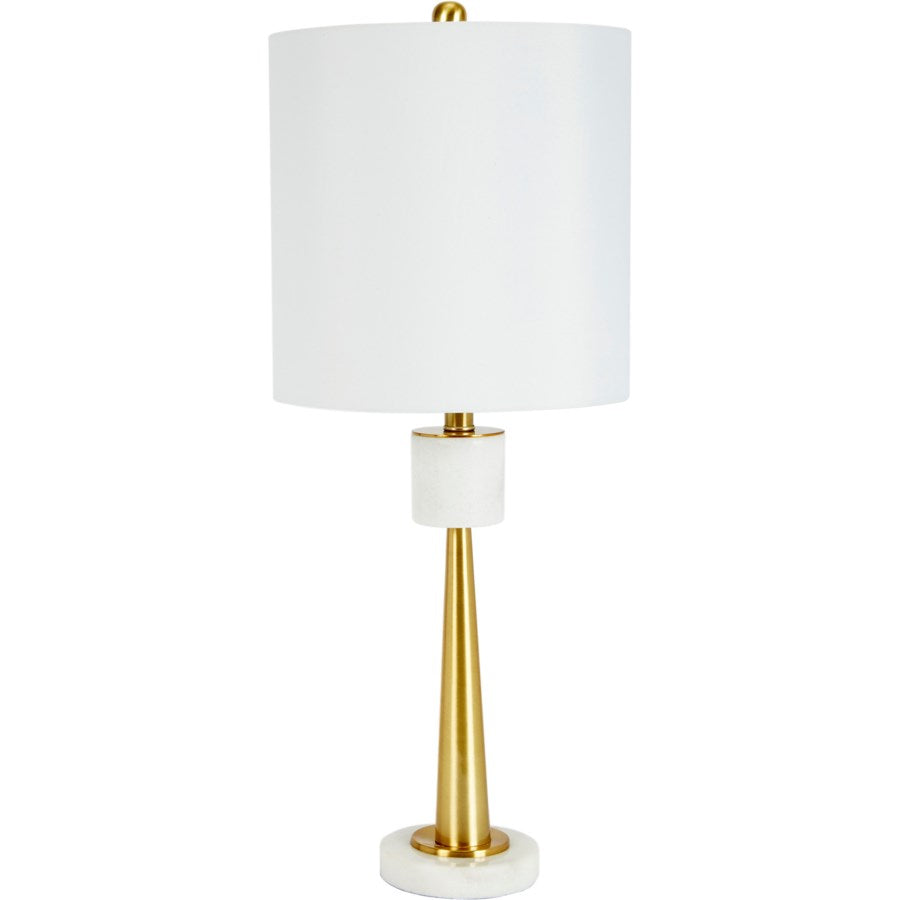 White Marble and Gold Lamp - CENTURIA