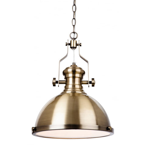 Polished Antique Brass Pendant Light - CENTURIA