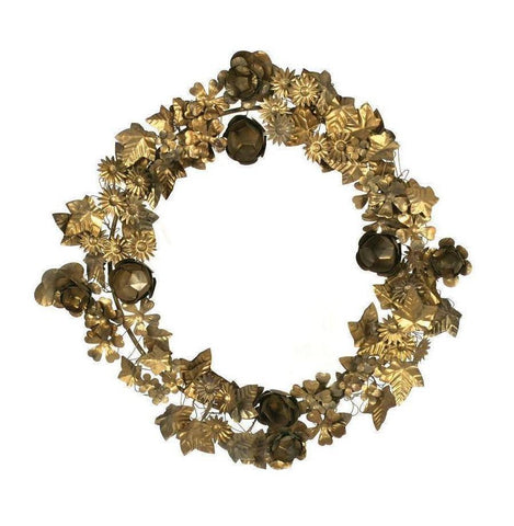 Gold Metal Leaf Wreath - CENTURIA