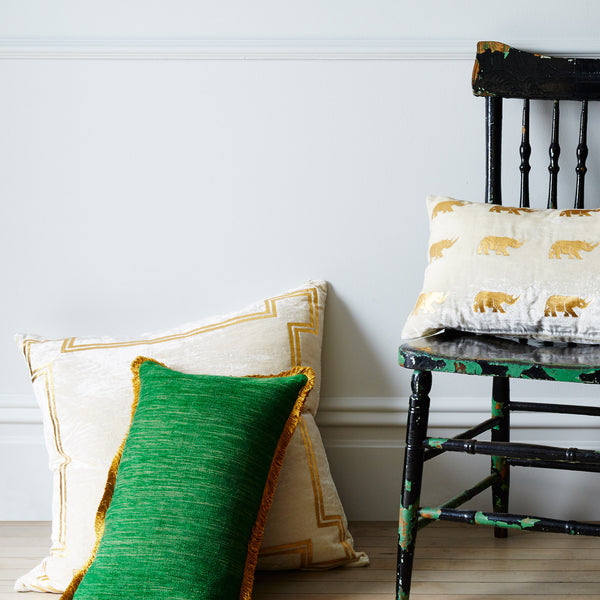 Georgian Velvet Green Pillow - CENTURIA
