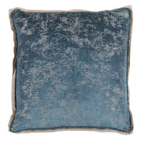 Antiqued Chenille Pillow in Azure
