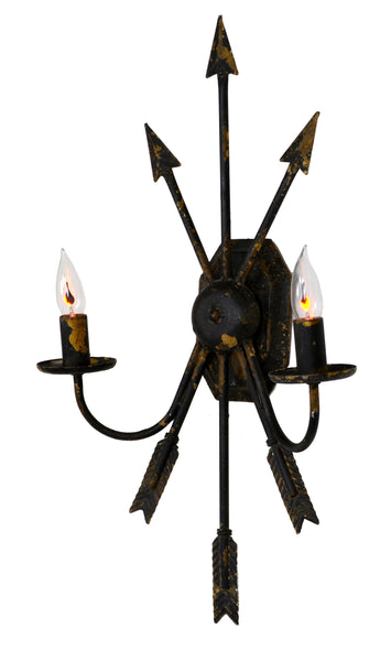 Black Iron Arrow Sconce - CENTURIA