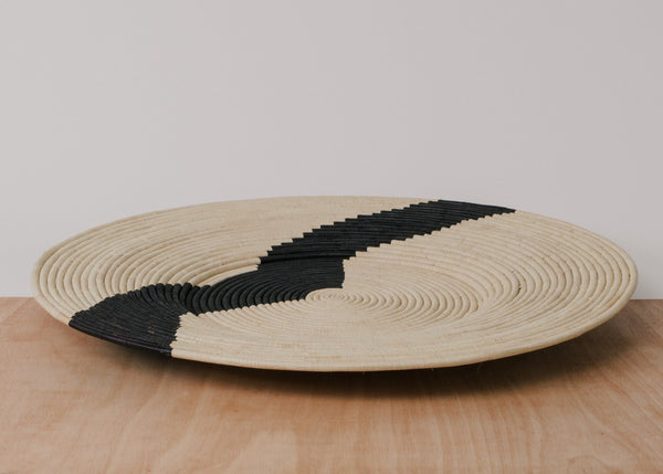 Black and Tan Hand Woven Plate - CENTURIA