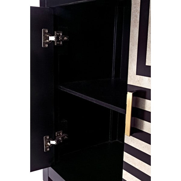 Black and Gold Geometric Cabinet - CENTURIA
