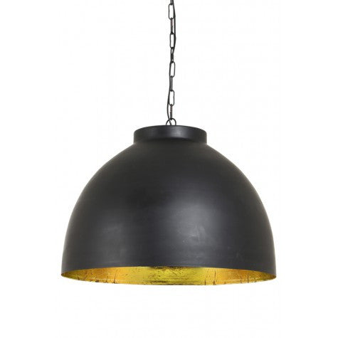 Extra Large Black Gold Lined Pendant Light