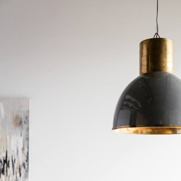Classic Grey and Antique Bronze Pendant - CENTURIA