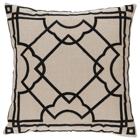 Linen Black and Tan Pillow - CENTURIA