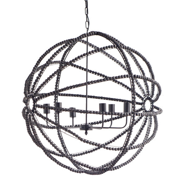 Large Black Globe Chandelier - CENTURIA
