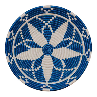 Large Blue and White Sweet Grass Plate - CENTURIA