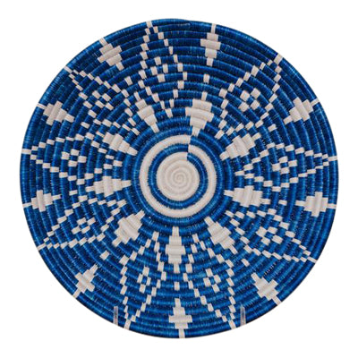 Blue and White Sweetgrass Plate - CENTURIA