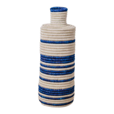 Blue and White Striped Sweet Grass Vase - CENTURIA