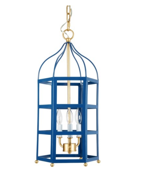 Blue and Gold Chinoiserie Pendant - CENTURIA