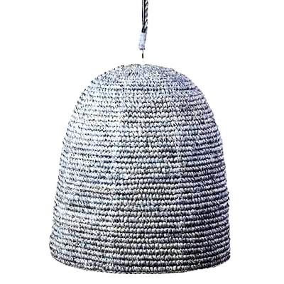 Blue Grey Dome Rattan Dome Light - CENTURIA