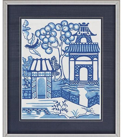 Framed Blue Willow Picture II - CENTURIA