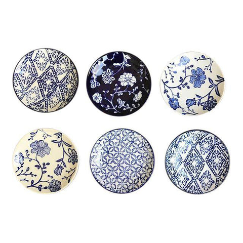 Blue Willow Inspired Appetizer Plates-Set/6