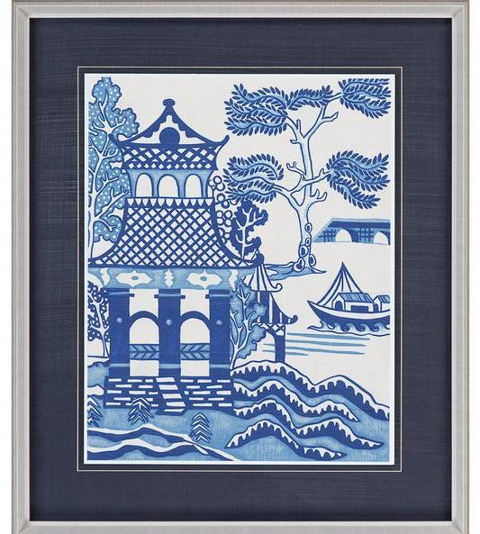 Framed Blue Willow Picture I - CENTURIA